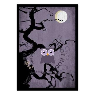 Búho y árbol Gnarled espeluznante para Halloween Tarjetas De Visita Grandes