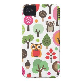 Búho y caso retros lindos del iphone del modelo de Case-Mate iPhone 4 fundas