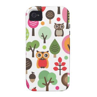 Búho y caso retros lindos del iphone del modelo de Case-Mate iPhone 4 carcasa