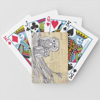 Búhos 45 barajas de cartas