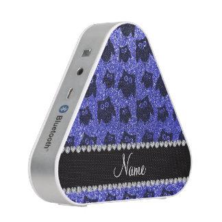 Búhos azules de neón conocidos personalizados del altavoz bluetooth