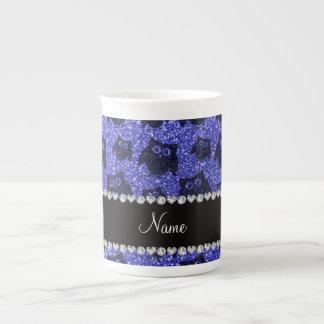 Búhos azules de neón conocidos personalizados del  taza de china