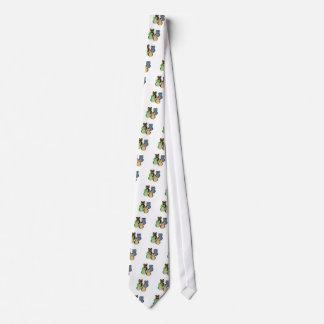 Búhos coloridos corbatas