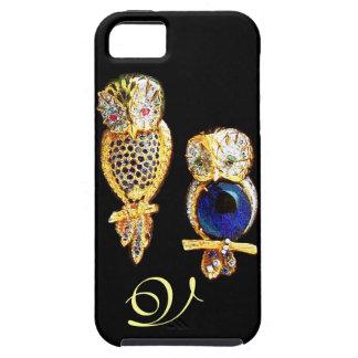 BÚHOS de la JOYA, oro, zafiro azul, perla del Funda Para iPhone 5 Tough