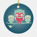 Búhos de Lil Munchkin Kawaii Ornamento Para Arbol De Navidad