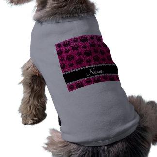 Búhos de neón conocidos personalizados del brillo  camisetas mascota