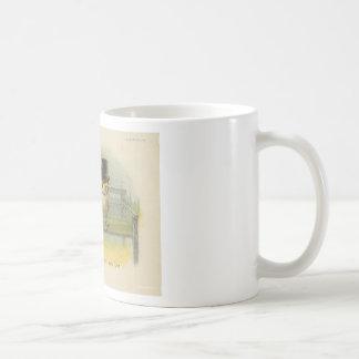 búhos de pelea taza de café