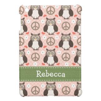 Búhos del amor de la paz iPad mini cárcasa