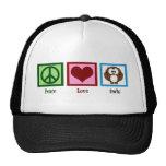 Búhos del amor de la paz gorra