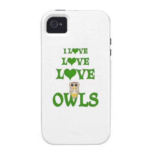 Búhos del amor del amor iPhone 4/4S fundas