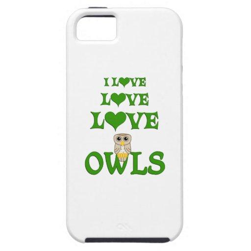 Búhos del amor del amor iPhone 5 carcasas