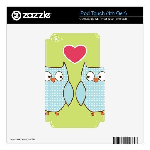 búhos del amor iPod touch 4G calcomanías