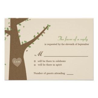 Búhos del amor que casan RSVP la tarjeta de la res Anuncios Personalizados