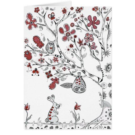 Búhos del amor tarjeta de felicitación