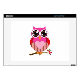 Búhos del amor y regalos lindos de los corazones skins para 38,1cm portátil