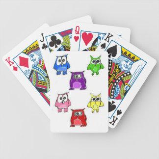 Búhos del arco iris baraja de cartas