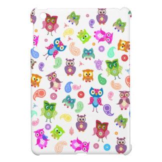 Búhos del arco iris - luz iPad mini carcasas