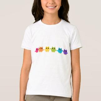 Búhos del arco iris playera