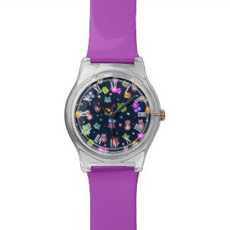 Búhos del arco iris relojes de pulsera