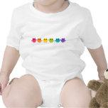Búhos del arco iris trajes de bebé