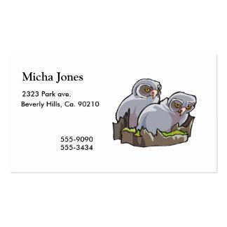 Búhos del bebé tarjetas de visita