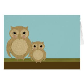 Búhos del día de madre tarjetas