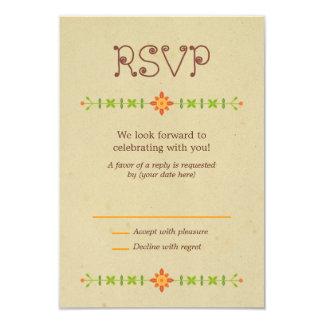 Búhos del Lovebird que casan RSVP Invitación 8,9 X 12,7 Cm