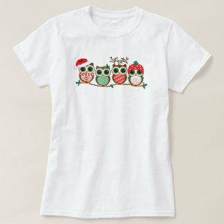 Búhos del navidad playera