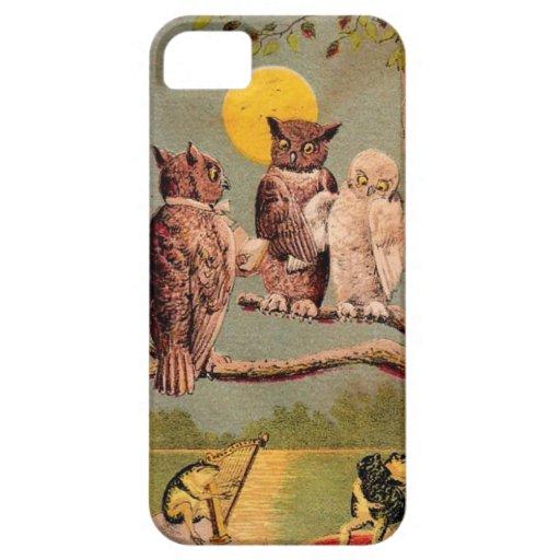 Búhos del vintage iPhone 5 Case-Mate fundas