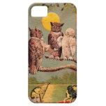 Búhos del vintage iPhone 5 Case-Mate protector