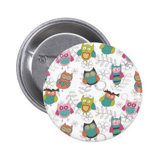 Búhos Doodled Pins