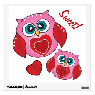 Búhos dulces de la tarjeta del día de San Valentín
