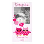 Búhos dulces del amor tarjeta fotografica personalizada