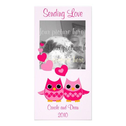 Búhos dulces del amor tarjetas personales