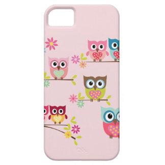 Búhos en colores pastel preciosos - caso del iPhone 5 carcasas