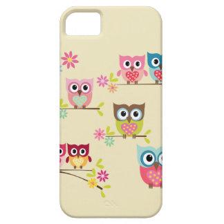 Búhos en colores pastel preciosos - caso del funda para iPhone 5 barely there