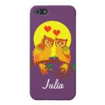 Búhos en el amor 2 iPhone 5 protectores