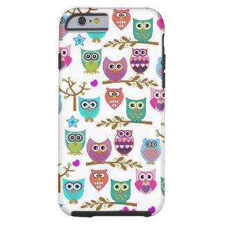 búhos felices funda de iPhone 6 tough