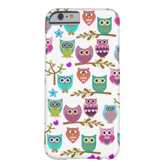búhos felices funda para iPhone 6 barely there