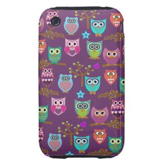 búhos felices iPhone 3 tough fundas