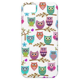 búhos felices iPhone 5 carcasa