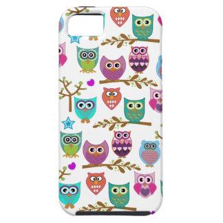 búhos felices iPhone 5 fundas