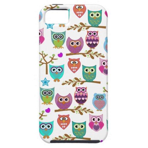 búhos felices iPhone 5 protector