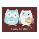 Búhos feliz siempre después felicitaciones
