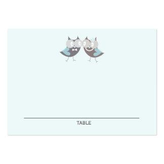 Búhos lindos caprichosos del boda que casan tarjetas de visita grandes