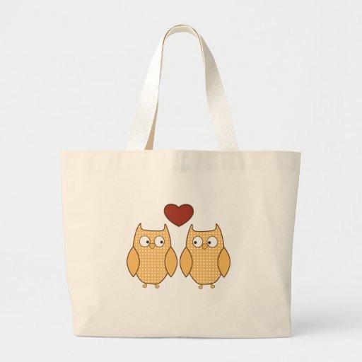 búhos lindos en amor bolsa