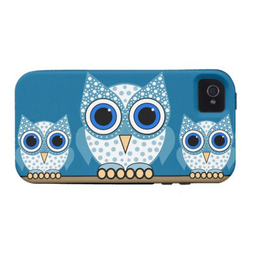 búhos lindos iPhone 4/4S carcasa