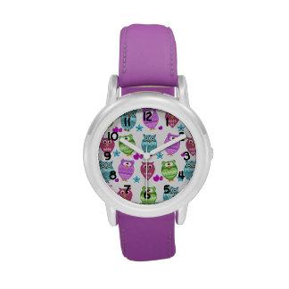 búhos lindos relojes