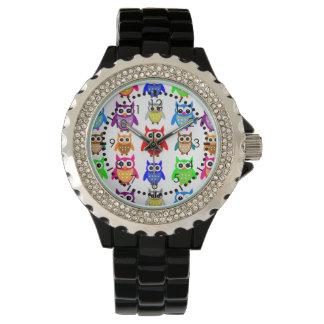 búhos lindos relojes de pulsera