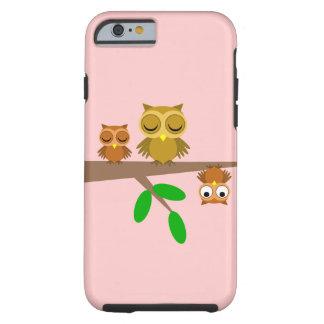 búhos lindos y divertidos funda de iPhone 6 tough